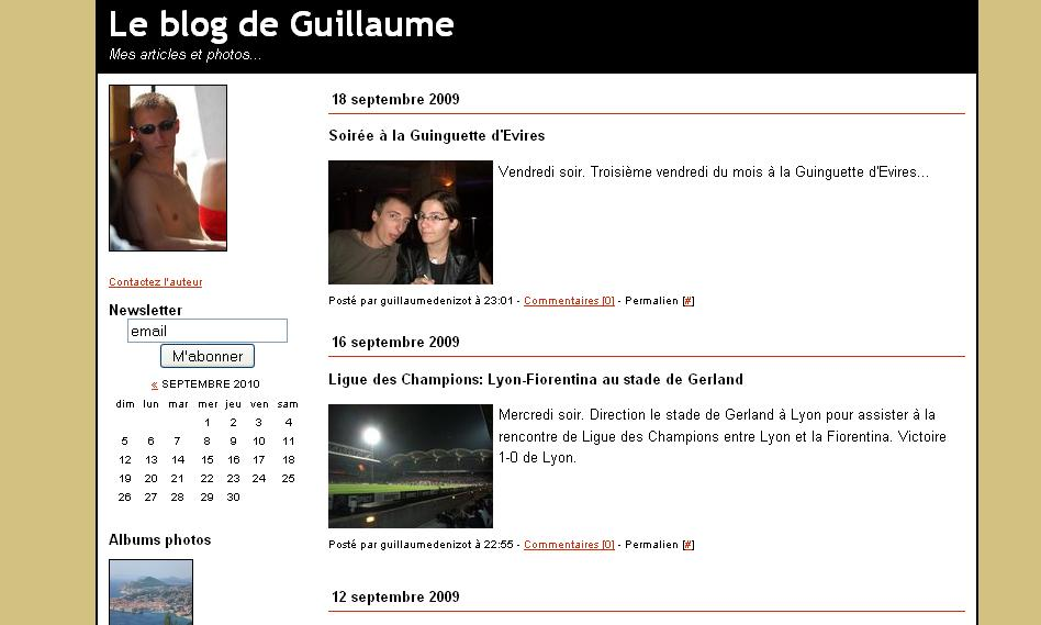 guillaume denizot - site officiel